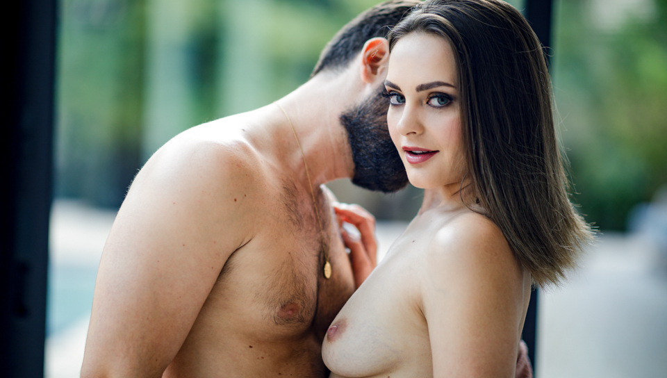 couple standing up naked