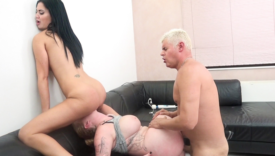 Jasmine Jae & Porno Dan & Harmony Reigns - Busty  and  Pussy Pounding Threesome