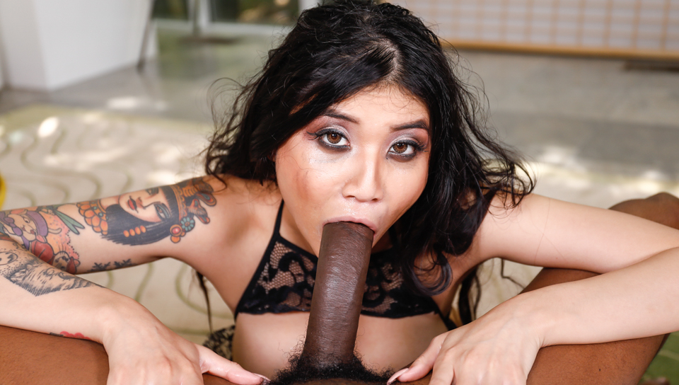 Isiah Maxwell & Brenna Sparks - Asian Mouth Vs Black Cock
