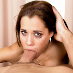 Satin Bloom shoves a massive meat shaft down her throat
