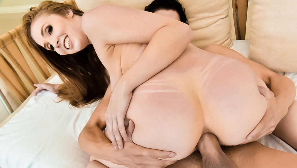 Big breasted redhead Lena Paul tries anal sex with big cock