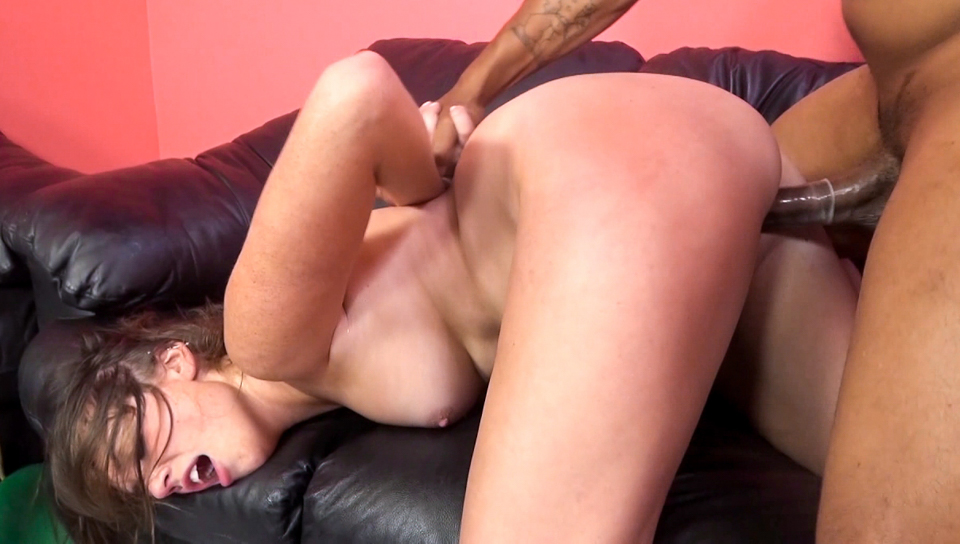 Horny little Jordan enjoys the sweet pounding of black cock.