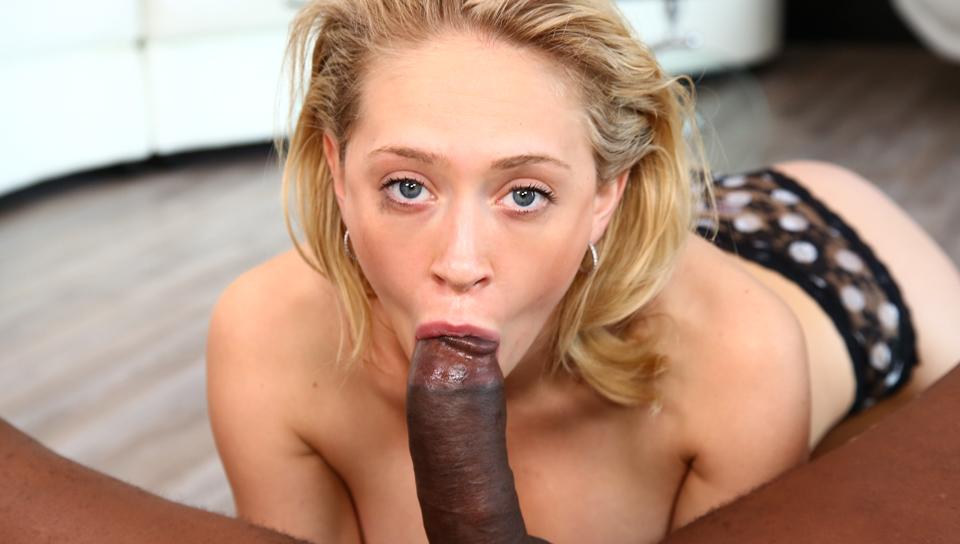 Blonde Babe, Black Cock